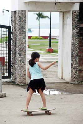 Photograph - Skater Girl by Jez C Self