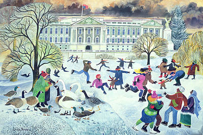 Buckingham Palace Photograph - Skaters At St James's Park by Lisa Graa Jensen