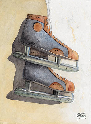 Painting - Skates by Ken Powers
