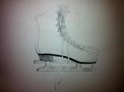 Drawing - Skates by Mike Eliades