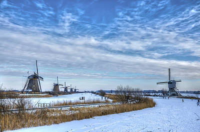 Photograph - Skating Around The Windmills by Frans Blok