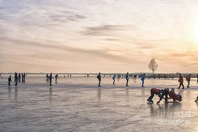 Photograph - Skating At Sunset by Patricia Hofmeester