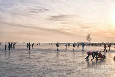 Photograph - Skating At Sunset by Patricia Hofmeester