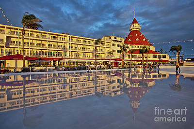 Photograph - Skating By The Sea At The Hotel Del Coronado, California by Sam Antonio Photography