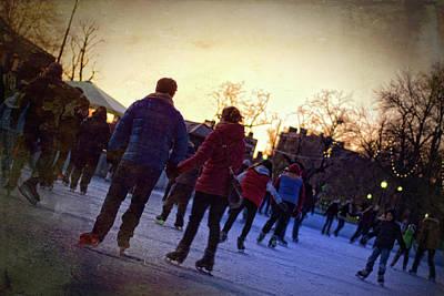 Photograph - Skating On Frog Pond - Boston Common by Joann Vitali