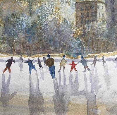 Painting - Skating  by Peggy Poppe