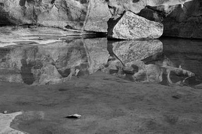 Skc 8590 Rock Reflection Art Print by Sunil Kapadia