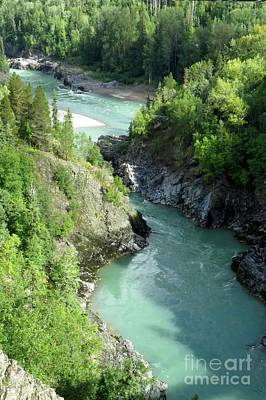 Photograph - Bulkley River Canyon by Frank Townsley