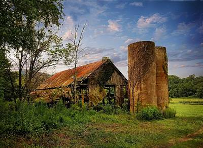 Photograph - Skeenah Gap Silos by Joe Duket