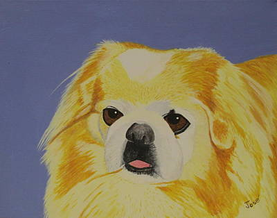 Painting - Skeeter The Peke by Hilda and Jose Garrancho