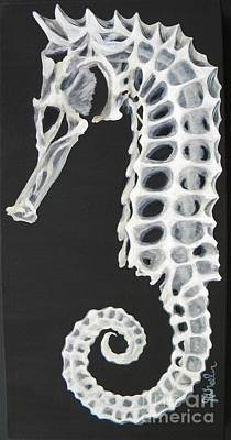Sea Dragon Painting - Skelehorse by JoAnn Wheeler