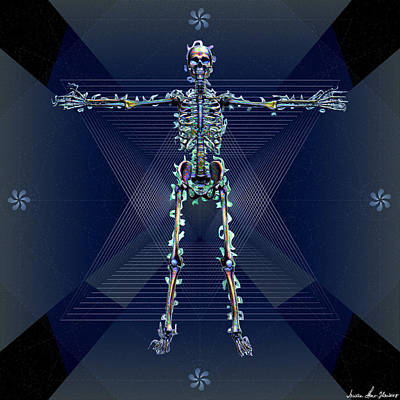 Digital Art - Skeletal System by Iowan Stone-Flowers