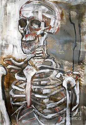 Structure Mixed Media - Skeleton 1 by Joanne Claxton