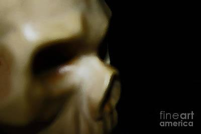 Audrey Hepburn - Skeleton Head 1 by Don Baker