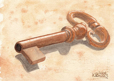 Painting - Skeleton Key by Ken Powers