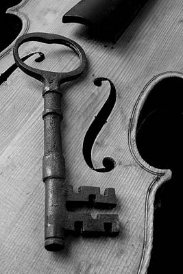 Photograph - Skeleton Key On Violin by Garry Gay