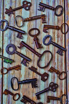 Photograph - Skeleton Keys by Garry Gay