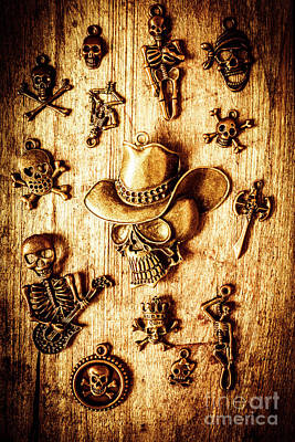 Necklace Photograph - Skeleton Pendant Party by Jorgo Photography - Wall Art Gallery