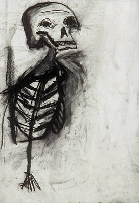 Skeleton Study Art Print by Jamie Wooten