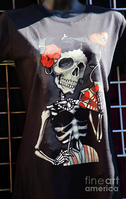 Dia De Los Muertos Photograph - Skeleton T Shirt Day Of The Dead  by Chuck Kuhn