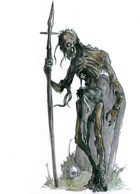 Painting - Skeleton Warrior by Bartek Blaszczec