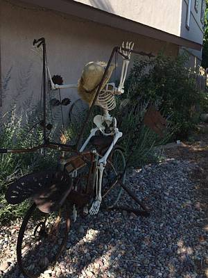Photograph - Skeleton's Bike Ride  by Cindy Croal