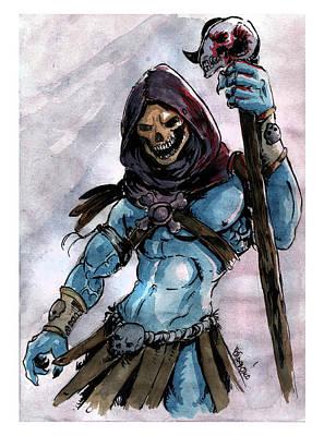 Painting - Skeletor by Bartek Blaszczec