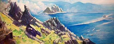 Painting - Skelligs County Kerry Ireland by Paul Weerasekera