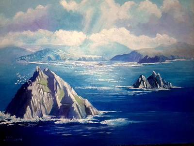 Painting - Skelligs Ireland by Paul Weerasekera