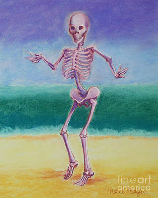 Skelly Pastel - Skelly Dancer Number Five by Marie Marfia