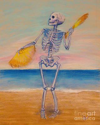 Skelly Pastel - Skelly Dancer Number Ten by Marie Marfia