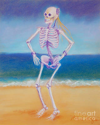 Skelly Pastel - Skelly Dancer Number Two by Marie Marfia