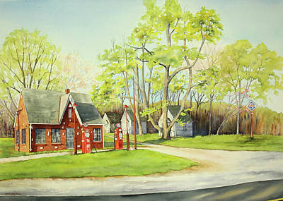 Painting - Skelly Gas Station by Brenda Beck Fisher