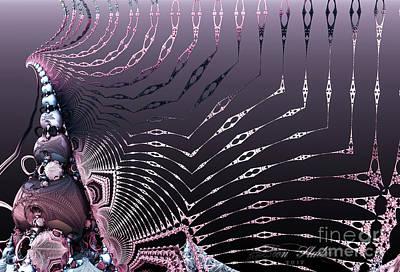 Digital Art - Skelton Wings by Melissa Messick