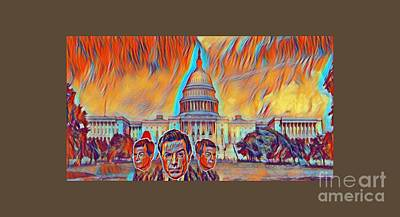 Capitol Building Digital Art - Skeptical Eyebrows by Pd