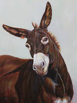 Painting - Skeptical Matilda by Joan Frimberger