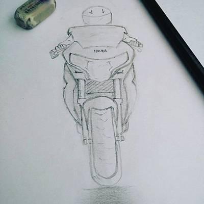 Drawing - Sket Cbr250r #cbr250r by Yusup Darman Jati