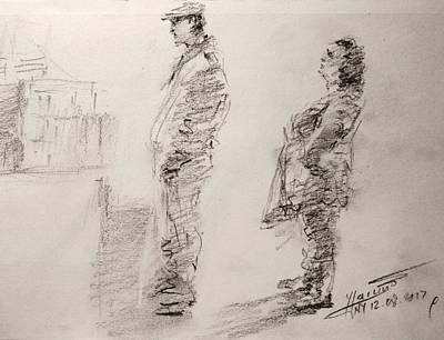 Pencil Portrait Wall Art - Drawing - Sketch 11 by Ylli Haruni