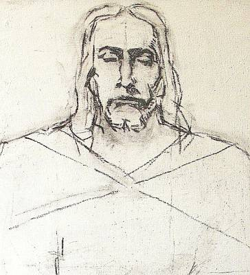 Drawing - Sketch A Of Christ by G Cuffia