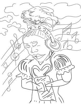 Digital Art - Sketch A9 by Robert Watson