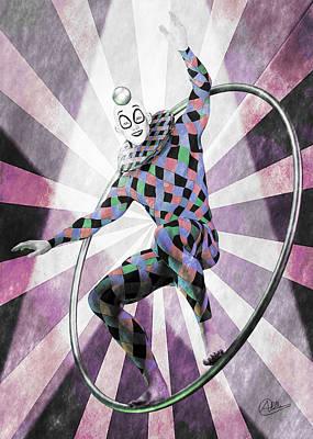 Jester Digital Art - Sketch Circus by Quim Abella