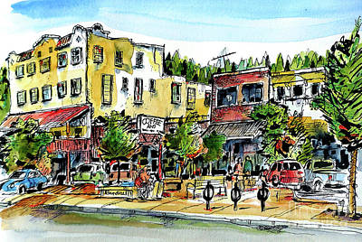 Painting - Sketch Crawl In Truckee by Terry Banderas