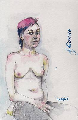 Painting - Sketch For Cassie 1 by Ray Agius