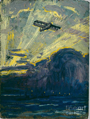 Arthur Lismer Painting - Sketch For Minesweepers And Seaplanes by MotionAge Designs