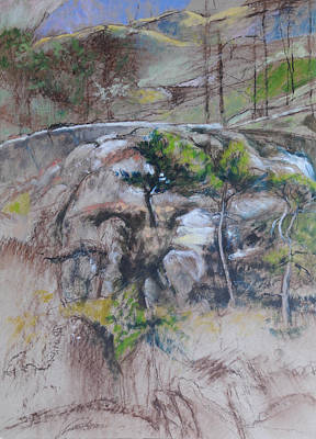 Painting - Sketch For Ogwen Painting 2 by Harry Robertson