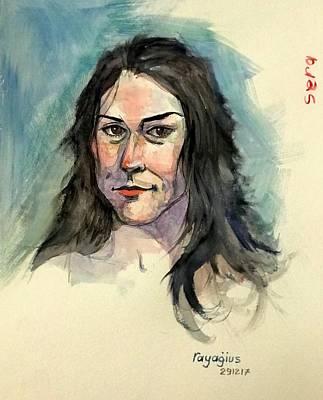 Painting - Sera Sketch 11 by Ray Agius