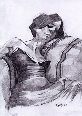 Drawing - Sketch For Solitude by Ray Agius