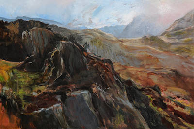 Painting - Sketch In Snowdonia by Harry Robertson