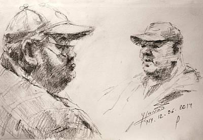 Sketch Man 10 Art Print