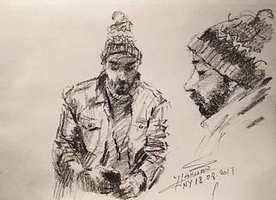 Pencil Portrait Wall Art - Drawing - Sketch Man 13 by Ylli Haruni